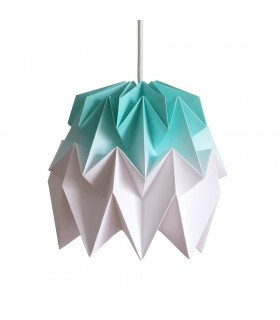 Kiki Origami Lamp mint green gradient - S