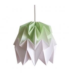 Lampa origami Kiki gradient verde lime - S