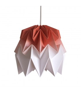 Kiki origami lamp cinnamon brown gradient - S