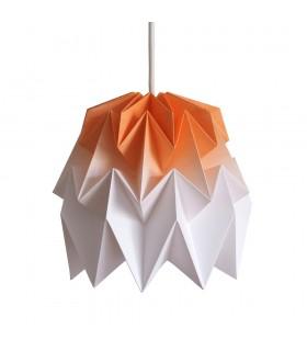 Lampa origami Kiki gradient portocaliu - S