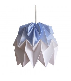 Kiki origami lamp blue gradient - S