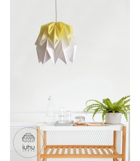 Kiki origami lamp yellow gradient - S