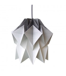 Kuki Origami Lamp - charcoal gradient - S Size