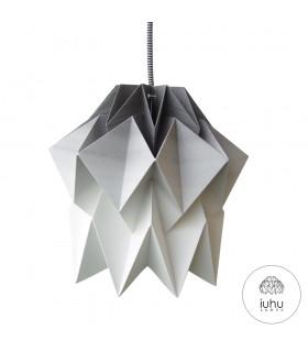 Lampa origami Kuki gradient carbune - S