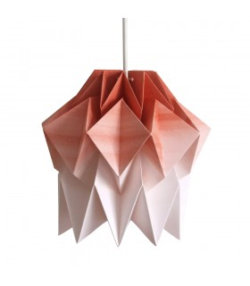 Kuki Origami Lamp - cinnamon brown gradient - S Size