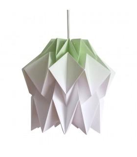 Lampa origami Kuki gradient verde lime - Marime S