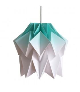 Lampa origami Kuki gradient verde mint - Marime S