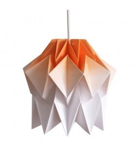 Lampa origami Kuki - gradient portocaliu - Marime S