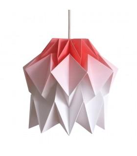 Lampa origami Kuki gradient rosu - Marime S