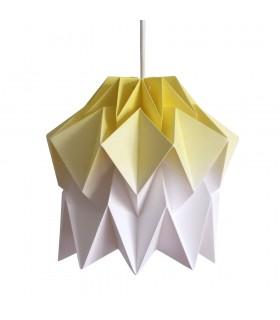 Lampa origami Kuki gradient galben - Marime S